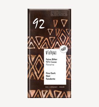 Ciocolată amară 92% bio Vivani 80g