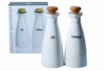 Набор для масла и уксуса EH 250ml, H18cm, стекло (без подст)