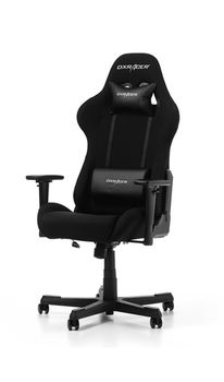Gaming Chairs DXRacer - Formula GC-F01-N-G1, Black/Black/Black - Fabric, Gamer weight up to 100kg / growth 145-180cm, Foam Density 52kg/m3, 5-star Nylon Base, Gas Lift 4 Class, Recline 90*-135*, Armrests: 3D, Pillow-2, Caster-2*PU, W-22kg
