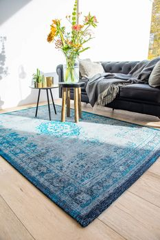 купить Ковёр ручной работы LOUIS DE POORTERE Fading World Grey Turquoise 8255 в Кишинёве