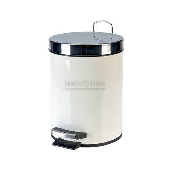 купить Ведро мусорка 5л . белое металлическое 250800 в Кишинёве