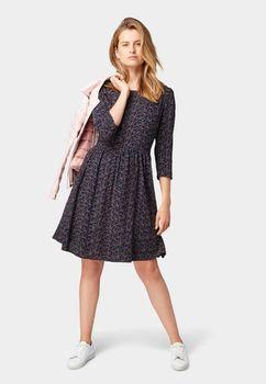 Платье TOM TAILOR Темно синий с принтом 1013531