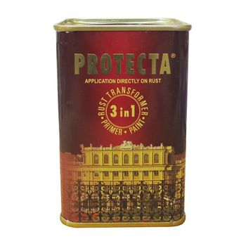 Оргахим Краска Protecta 3в1 Темно-коричневая 0.5л