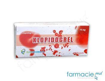 cumpără Klopidogrel caps. 75 mg N10x2 (Eurofarmaco) în Chișinău