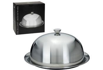 Блюдо с крышкой EH D30cm, нержавеющая сталь