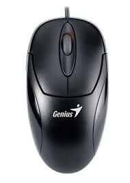 (31010144101) Genius XScroll Optical Mouse, 800 dpi, PS/2, Black