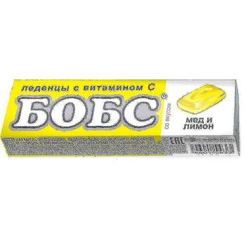 💚 Леденцы Бобс от кашля, медово-лимонные, 35 гр.