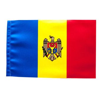 купить Флажок настольный из атласа Молдова или другой страны - 22x11 см в Кишинёве
