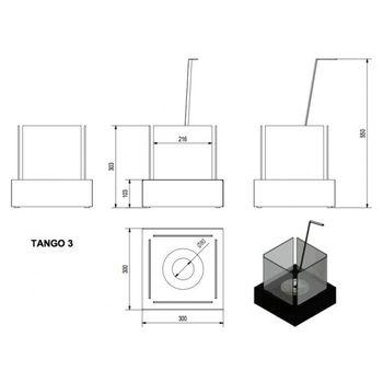 купить Биокамин - TANGO 3 черный настольный/напольный в Кишинёве