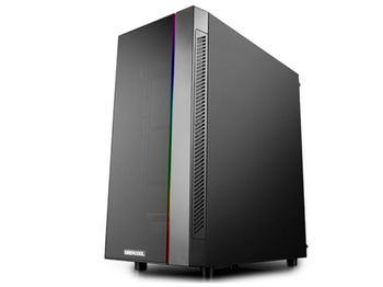 Корпус ATX Deepcool MATREXX 55 V3 ADD-RGB 3F, без блока питания, 3x120 мм, закаленное стекло, RGB, USB3.0, белый