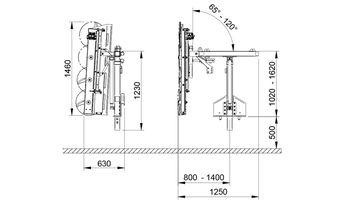 купить Обрезчик для виноградников с роторными ножами CFC/200 - Оризонти в Кишинёве