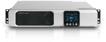 AEG Protect D.1500  Rackmount UPS, 1500VA/1350W, Online / Double-conversion (VFI technology), AVR, true Sinusoidal, power factor 0.9lag, LCD display, 6x IEC320, BP extensions, Extension slot, Hot-swappable batteries, Low height (2U)
