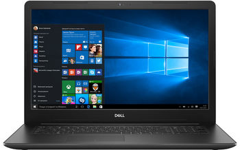 "DELL Inspiron 17 3000 Black (3780), 17.3"" FullHD (Intel® Core™ i7-8565U, 4xCore, 1.8-4.6GHz, 8GB (1x8) DDR4, 128GB M.2 PCIe SSD+1TB HDD,  AMD Radeon™ 520 Graphics 2GB GDDR5,DVDRW, CardReader, WiFi-AC/BT4.1, 3cell, HD 720p Webcam, RUS, Ubuntu, 2.8 kg)"