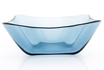 Салатница стеклянная Nettuno 21.8Х21.5cm, голубая