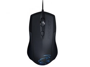 ROCCAT Lua / Tri-Button Gaming Mouse, 250-2000dpi, DPI-change swich (7-steps), Pro-Optic (R2) sensor, Soft-touch surface, Arctic Blue LED lighting, USB, Black