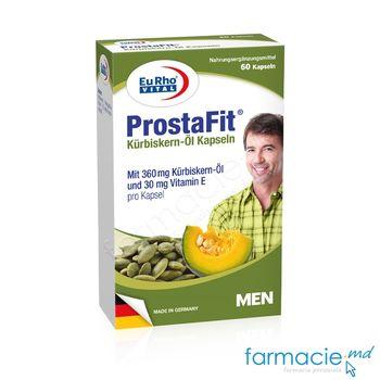 купить ProstaFit Ulei seminte de Dovleac 360mg + Vitamina E 30mg caps. N60 EuRho Vital в Кишинёве