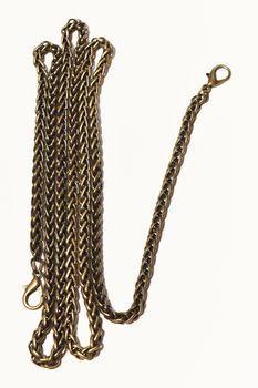 Lanț cu carabine pentru poșete, 120 cm / bronz