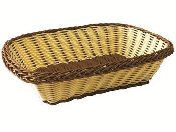 Корзинка для хлеба плетеная прямоугольная 26X20X7cm