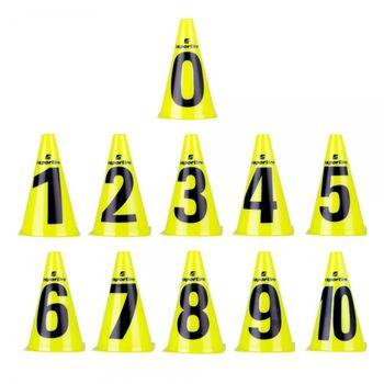 Конусы (11 шт.) 23 см inSPORTline Numeric 13205 (2600)