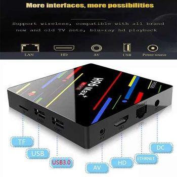 купить H96 MAX. plus 4 Гб / 64 Гб. Многофункциональная 4K Смарт ТВ приставка. Android 8 медиаплеер. Все в одном! в Кишинёве