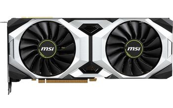 MSI GeForce RTX 2080 VENTUS 8G /  8GB DDR6 256Bit 1710/14000Mhz, 1x HDMI, 3x DisplayPort, 1x USB Type-C, Dual fan - Customized Design (Double Ball Bearing/Smooth Heat Pipes), Gaming App, Retail
