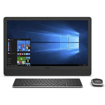 "AIl-in-One PC - 23,8"" DELL Inspiron 3464 FHD IPS Touch, Intel® Core® i5-7200U (Dual Core, up to 3.10GHz, 3MB), 8Gb DDR4 RAM, 1TB HDD, DVD-RW, Intel® HD Graphics 620, HD Webcam, Wi-Fi-AC/BT4.0, KM636 Wireless KB&MS, W10 Home Ru, McAfee 15 Month, Black"