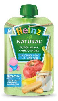 купить Heinz пюре яблоко, банан, сливки и печенья, 6+мес. 90г в Кишинёве