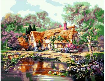 Картина по номерам 40x50 Бабушкин дом VA0204