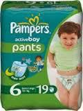Pampers active boy трусики (6+ кг) (19 шт)