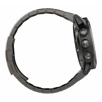 купить Часы Garmin Fenix 5X Sapphire - Slate grey with metal band, 010-01733-03 в Кишинёве