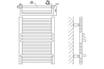 Полотенцесушитель Yilufa YD 1200 x 500 мм