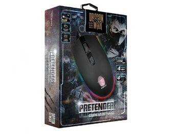 Игровая мышь Qumo Pretender, оптическая, 1200-3200 dpi, 4 кнопки, 7-цветная подсветка, USB