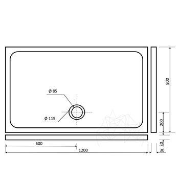 купить Стандартная травертиновая ванна ST-010 SBSS 120 x 80 x 3 см в Кишинёве