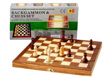 купить Шахматы  деревяные 3 в1  39х39 см (1908) в Кишинёве