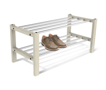 купить Полка для обуви Альберо беленый/алюм.металл ПЛТ175 в Кишинёве
