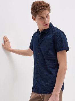 Рубашка HOUSE Темно синий с принтом yw244