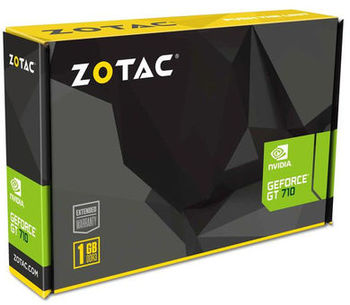 купить ZOTAC GeForce GT710 Zone Edition 1GB DDR3, 64bit, 954/1600Mhz, Passive Cooling, HDCP, DVI, HDMI, VGA, 2x Low profile bracket included, Lite Pack в Кишинёве