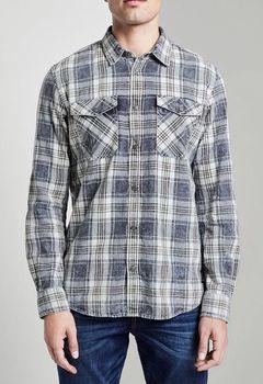 Рубашка Tom Tailor Синий в клетку tom tailor 1014480