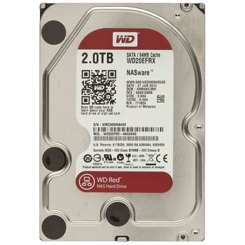 "2TB HDD 3.5"" Western Digital WD20EFRX , Caviar® Red™, NAS, IntelliPower, 64Mb, SATA3(6Gb/s)"