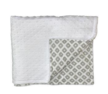 Плед утепленный плюшевый HB (100x80 см) Grey Dot