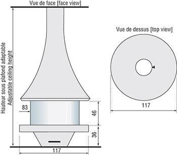 Камин - JC BORDELET EVA 992 - центральный со стеклом
