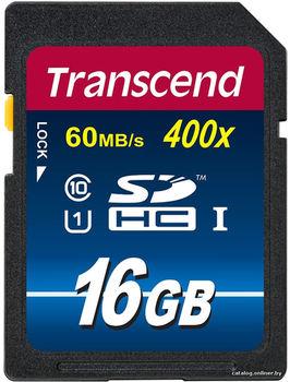 Transcend 16GB SDHC Class10 UHS-I, 300X, (R/W:20/15MB/s)