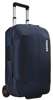 Travel Bag - THULE Subterra Rolling Carry-on 36L, Mineral, 800D Nylon, Dimensions 55 x 35 x 23 cm, Weight 3.18 kg, Volume 36L, Bag design absorbs the impact of travel due to the durable exoskeleton and molded polycarbonate back panel