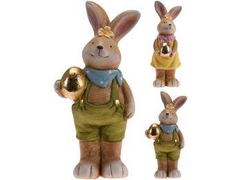"""Сувенир пасхальный """"Заяц с яйцом"""" 19cm, 2 дизайна, керамика"""