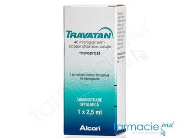 купить Travatan pic. oft.sol. 40 mcg/ml 2,5 ml N1 в Кишинёве