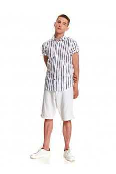 Рубашка TOP SECRET Белый в синюю полоску