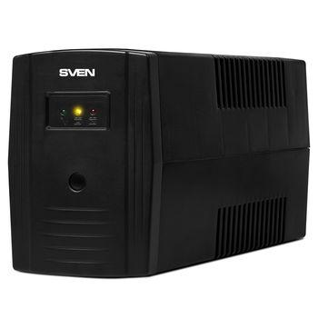 SVEN Pro 400, Line-interactive UPS, 400VA /240W, 2x Schuko outlets, 1x7AH, AVR: 175-280V, Cold start function, Black