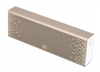 "Xiaomi ""Mi Bluetooth Speaker"" EU, Portable Bluetooth Speaker, Gold, 6W (3Wx2) RMS, BT4.0, microSD, AUX, Microphone, Rechargeable Battery: 1500mAh, Battery Life: 8 hours, Support A2DP/AVRCP/HSP/HEP, Passive bass radiator, Full aluminium body"