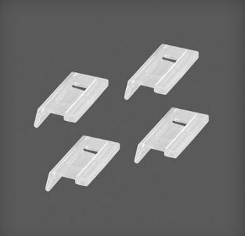 cumpără Set 4 dopuri din plastic pentru coș din plasă măruntă metalică 50x26x10 mm, transparent în Chișinău