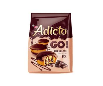 cumpără Prăjitură cu cremă de cacao şi glazură de cacao Eti Adicto Go Chocolate, 144 gr. în Chișinău